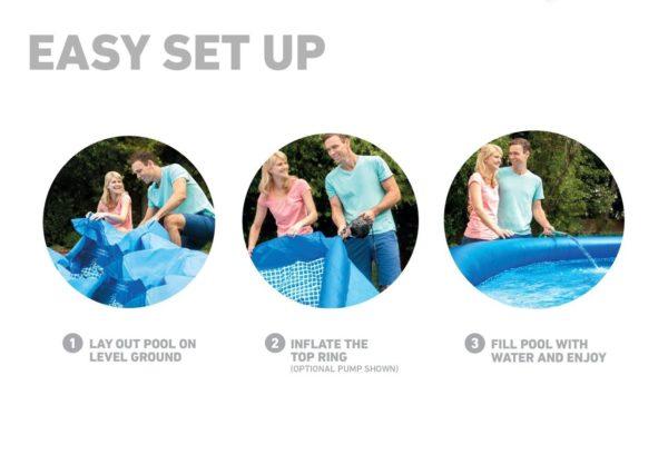 Intex easy set pool 8'x30″
